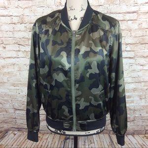 Arizona Satin Camouflage Jacket Small